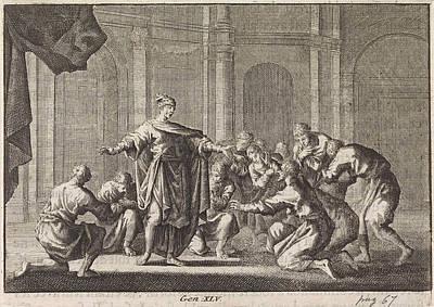 Joseph Reveals Himself To His Brothers, Jan Luyken Art Print