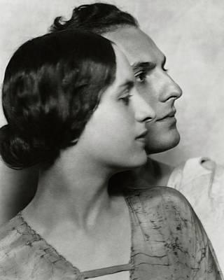 Joseph Photograph - Joseph Schildkraut With Elise Bartlett by Nicholas Muray
