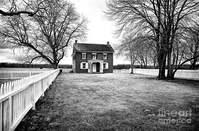 Old School House Photograph - Joseph Serfy House Bw by John Rizzuto