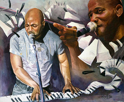 Victor Wooten Painting - Joseph Wooten by Kary Lee