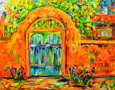 Southwest Gate Painting - Josephina's Gate by Sally Quillin