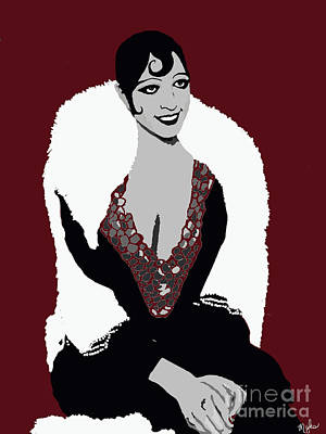 Painting - Josephine Baker A Class Act Circa 1920 by Saundra Myles