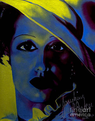 Painting - Josephine Baker by Chelle Brantley