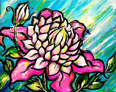 Painting - Josephine Clematis by Nada Meeks