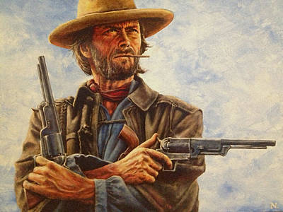 Movies Painting - Josey Wales by Dan Nance