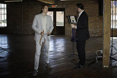 Photograph - Josh And Musician by David Waldrop