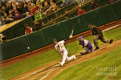 Photograph - Oakland Athletics Josh Donaldson Smacks It by Blake Richards