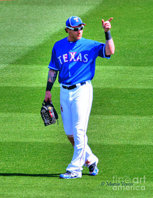 Josh Hamilton 32 Texas Rangers Art Print