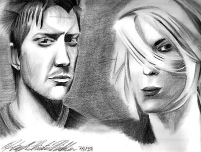 Josh Homme And Brody Dalle Original by Hannah Christine Nicholson