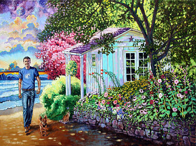 Shed Painting - Josh In Heaven by John Lautermilch