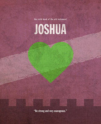 God Mixed Media - Joshua Books Of The Bible Series Old Testament Minimal Poster Art Number 6 by Design Turnpike