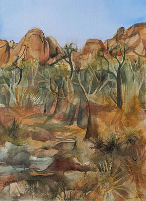 Painting - Joshua Ghost Trees by Lynne Bolwell
