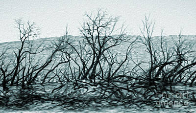 Painting - Joshua Tree - Burned Out Trees by Gregory Dyer