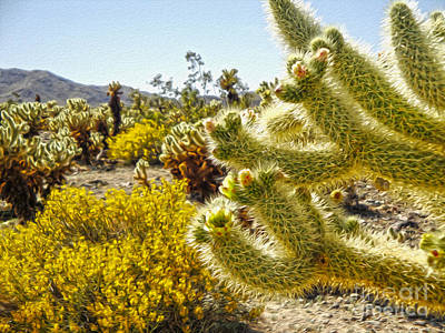 Painting - Joshua Tree Cholla Cactus Garden by Gregory Dyer