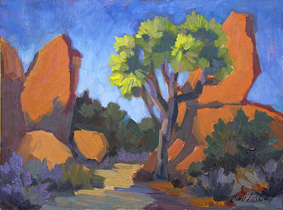 Painting - Joshua Tree Hidden Valley by Diane McClary