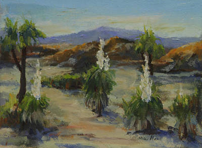 Joshua Tree In Bloom Original by Maria Hunt