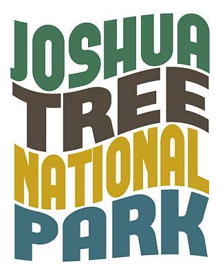 Joshua Tree Np Digital Art - Joshua Tree National Park Retro Wave by Flo Karp