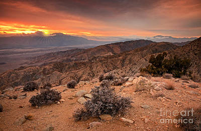 Photograph - Joshua Tree National Park Keys View Sunset by Charline Xia