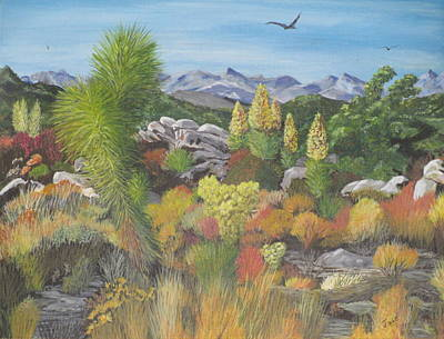 Art Print featuring the painting Joshua Tree Park by Hilda and Jose Garrancho