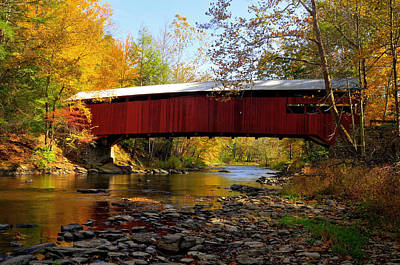 Art Print featuring the photograph Josiah Hess Covered Bridge by Dan Myers