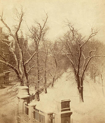 Snow Scenes Drawing - Josiah Johnson Hawes American, 1808 - 1901 by Quint Lox