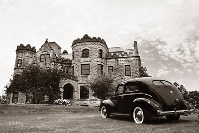 Photograph - Joslyn Castle - 1940 Ford  by Andrea Kelley