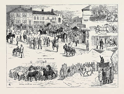Jottings At The Horncastle Horse Fair, August 22 Art Print