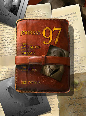 Photograph - Journal 97 The Case Notes Of E.r.satz by Ben Kotyuk