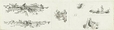 Journal With Five Vignettes And Initial, Willem Bilderdijk Art Print