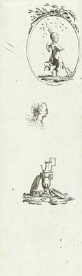 Journal With Three Vignettes, Print Maker Willem Bilderdijk Art Print