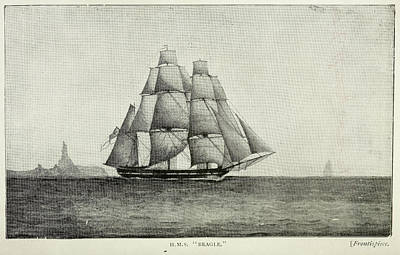 Watercraft Photograph - Journals Of Charles Darwin by British Library