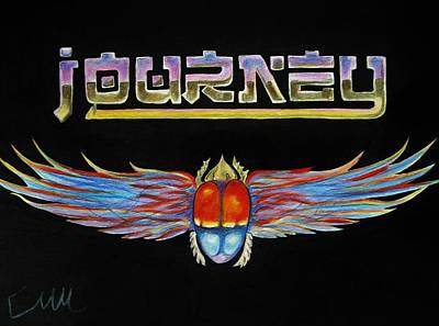 Drawing - Journey Band Logo by Emily Maynard