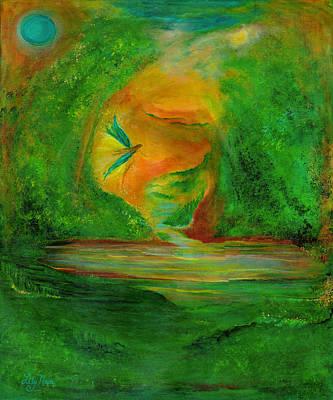 Mystical Landscape Painting - Journey by Lily Nava