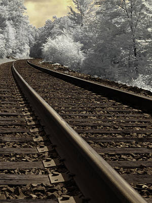 Ir Photograph - Journey On The Tracks by Luke Moore