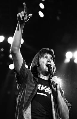 Perform Photograph - Journey Steve Perry 1983 by Chris Walter