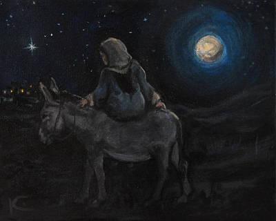 Journey To Bethlehem Art Print by Kim Marshall