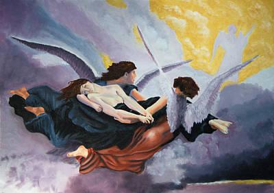 Ruben Carrillo Wall Art - Painting - Journey To Heaven by Ruben Carrillo