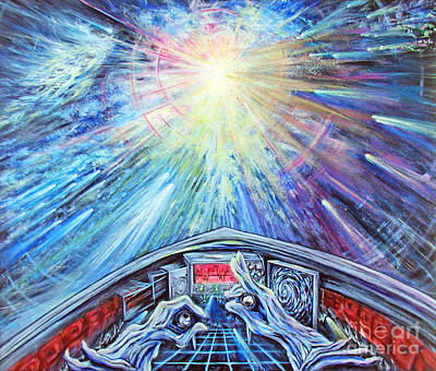 Outer Space Painting - Journey To Inner Space by Joyce Jackson