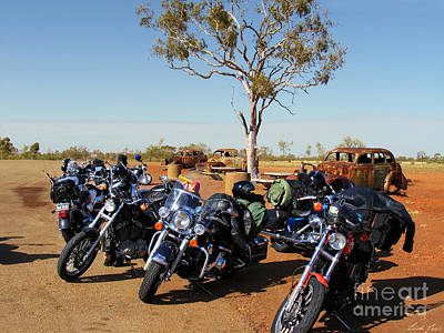 Gumtree Photograph - Journey To The Outback by Linda Lees
