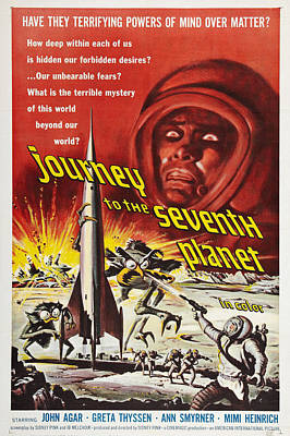Journey To The Seventh Planet Art Print by MMG Archives