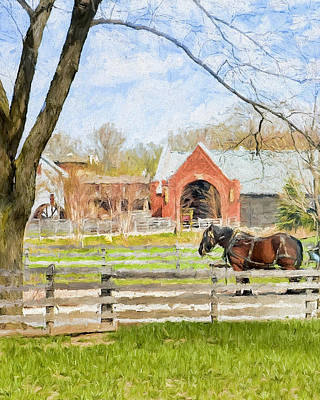 Art Print featuring the painting Journey To The Village by Ike Krieger