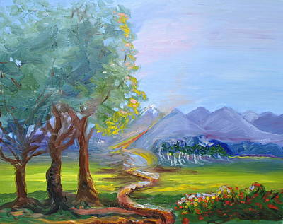 Journey With God  Art Print by Patricia Kimsey Bollinger