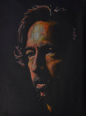 Eric Clapton Drawing - Journeyman Eric Clapton by Breyhs Swan