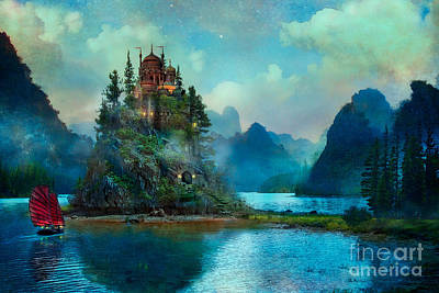 Blue Buildings Digital Art - Journeys End by Aimee Stewart
