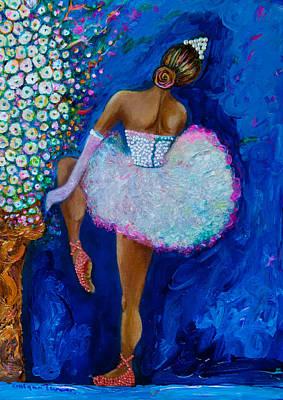 Dance Ballet Roses Mixed Media - Joy #2 by Gulgun Turker Fingerhut