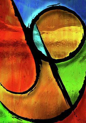 Christian Poster Mixed Media - Joy-abstract by Shevon Johnson
