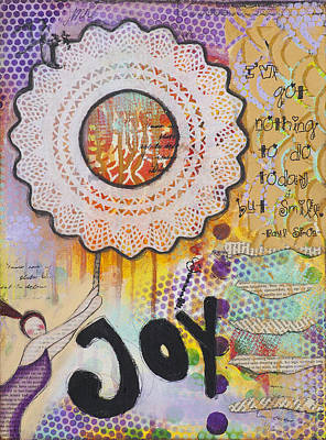 Mixed Media - Joy And Smile Cheerful Inspirational Art by Stanka Vukelic