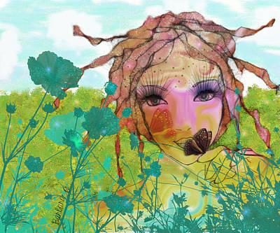 Art Print featuring the digital art Joy by Barbara Orenya