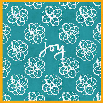 Royalty-Free and Rights-Managed Images - Joy Boho Floral Print by Linda Woods