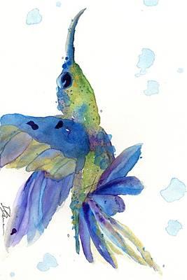 Hummingbird Painting - Joy by Dawn Derman